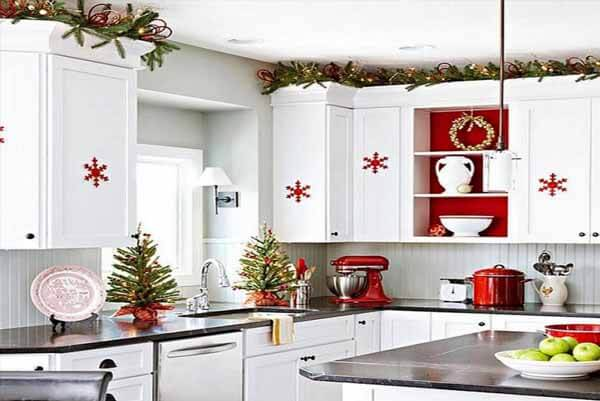 Cách trang trí nhà bếp ngày Noel