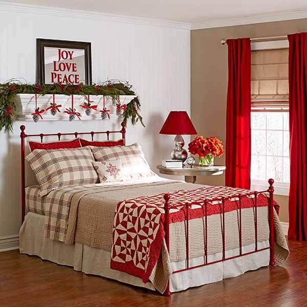 Cách trang trí phòng ngủ mùa Noel