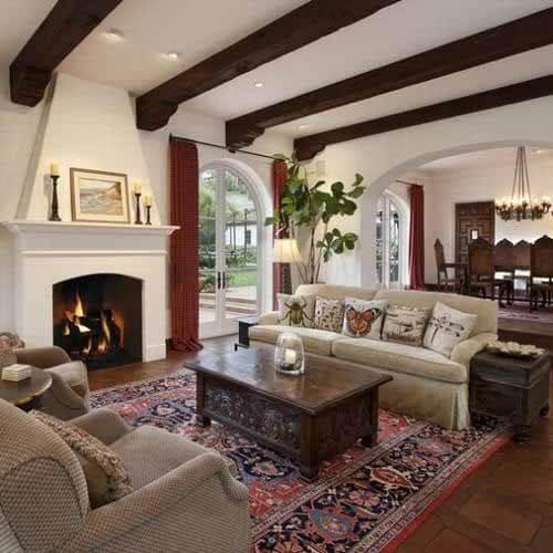 Để lộ dầm nhà khi trang trí trần nhà