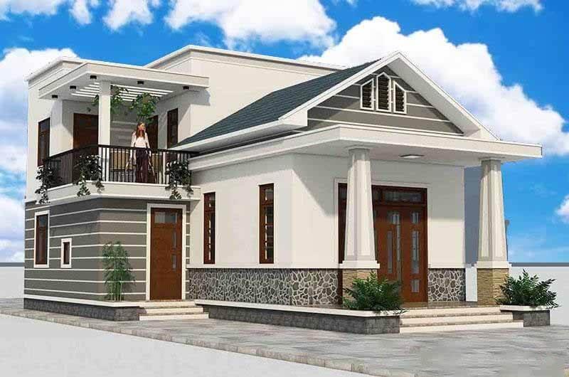 Kiến trúc nhà đẹp 1 tầng - Mẫu 3