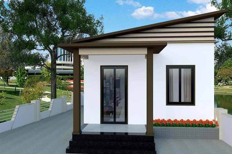 Kiến trúc nhà đẹp 1 tầng - Mẫu 4