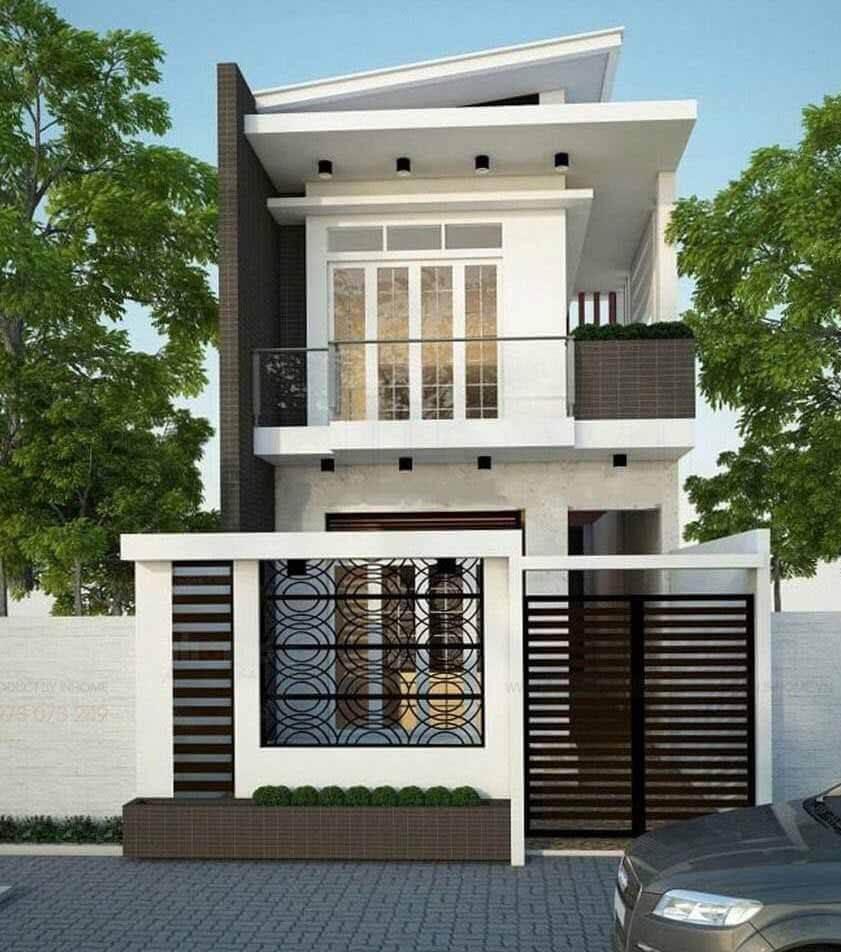 Kiến trúc nhà đẹp 2 tầng - Mẫu 1
