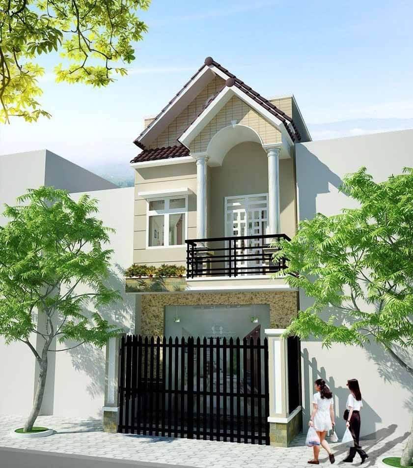 Kiến trúc nhà đẹp 2 tầng - Mẫu 2