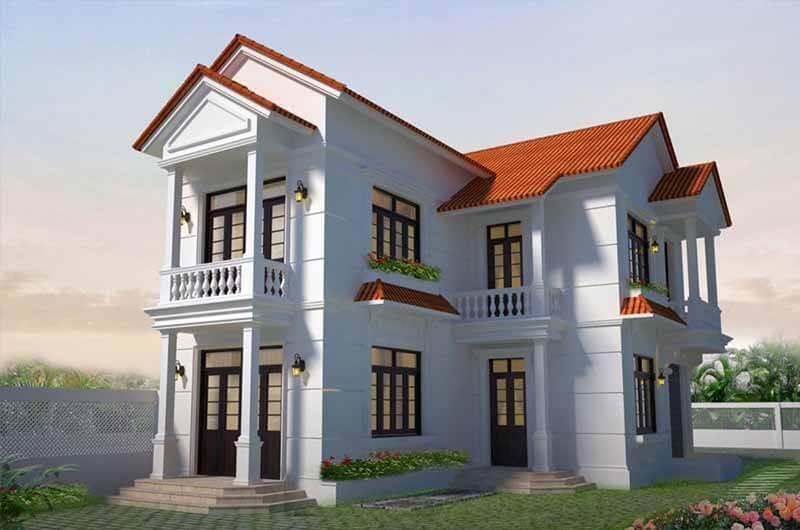 Kiến trúc nhà đẹp 2 tầng - Mẫu 3