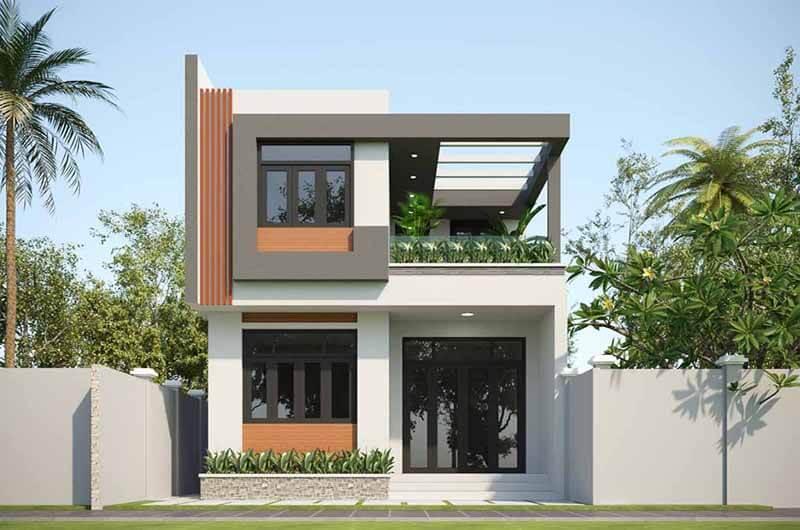 Kiến trúc nhà đẹp 2 tầng - Mẫu 4