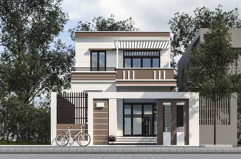 Kiến trúc nhà đẹp 2 tầng - Mẫu 5