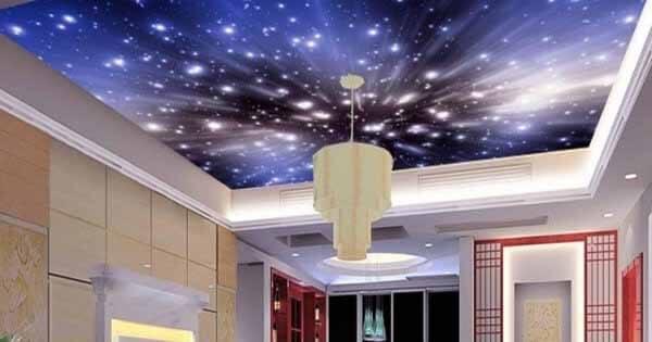 Sử dụng sợi quang để trang trí trần nhà