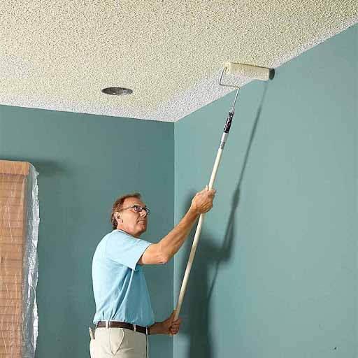 Sử dụng sơn để trang trí trần nhà